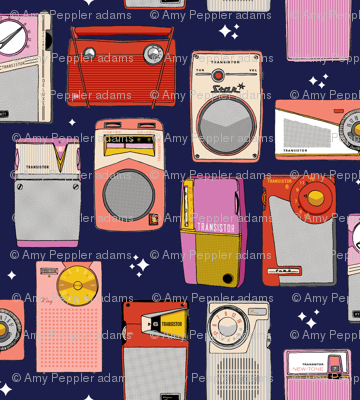 Radio Star* (Jackie Blue) || midcentury modern atomic vintage retro transistor radios music stars