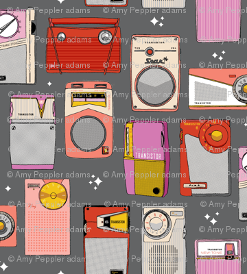 Radio Star* (Pepper Pot)    midcentury modern atomic vintage retro transistor radios music stars
