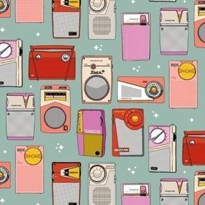 Radio Star* (Camouflage) || midcentury modern atomic vintage retro transistor radios music stars
