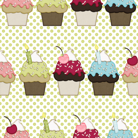 Great Day for Cupcakes fabric by ibpb on Spoonflower - custom fabric