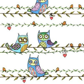 Owls on Vines