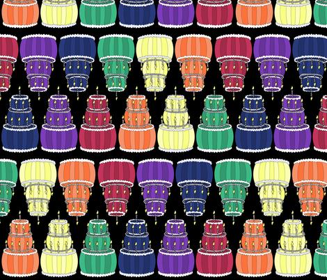 Rainbow of Cakes fabric by pond_ripple on Spoonflower - custom fabric