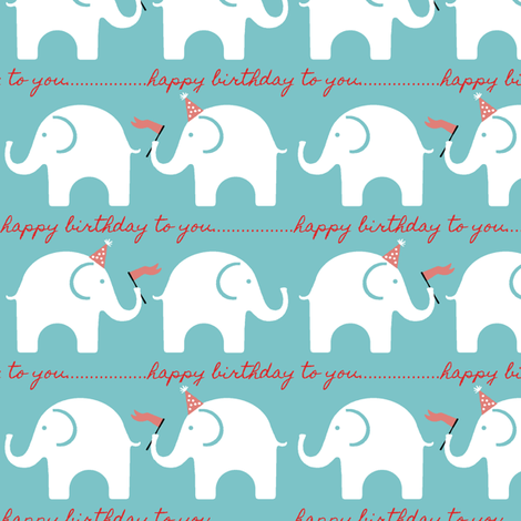 Ellie Birthday Giftwrap fabric by littlerhodydesign on Spoonflower - custom fabric
