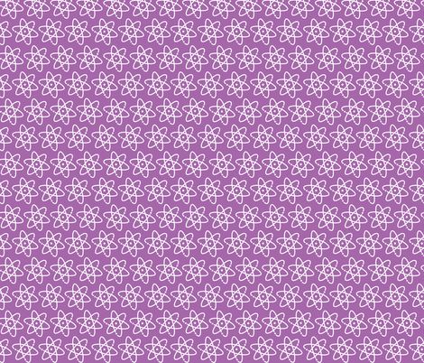 Geek Chapeau ATOMIC PURPLE fabric by gitchyville_stitches on Spoonflower - custom fabric