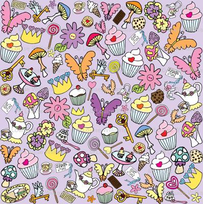 Purple fluttercakes