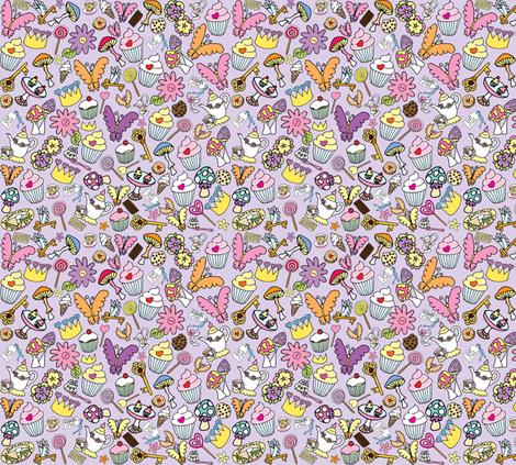 Purple fluttercakes fabric by walterandflo on Spoonflower - custom fabric