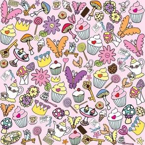Pink fluttercakes