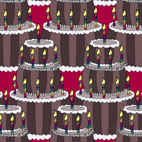 Chocolate Cake fabric by pond_ripple on Spoonflower - custom fabric