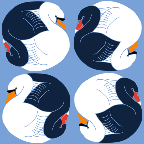 Yin Yang Swans fabric by eclectic_house on Spoonflower - custom fabric
