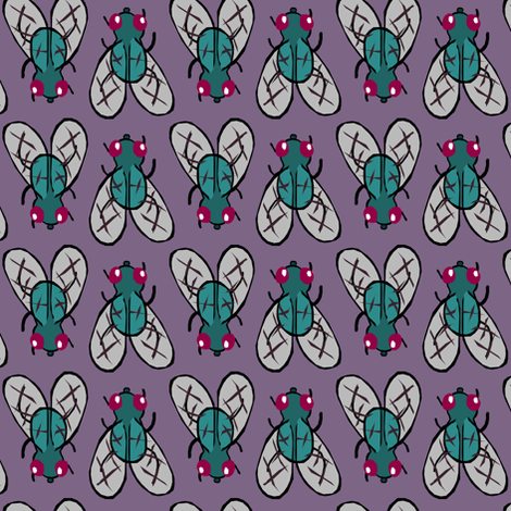 Fly fabric by pond_ripple on Spoonflower - custom fabric
