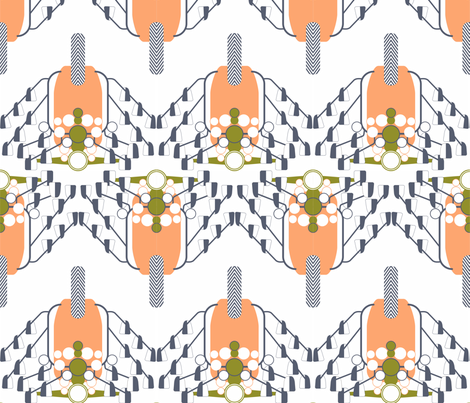 Salmon Pink Scooter fabric by candyjoyce on Spoonflower - custom fabric