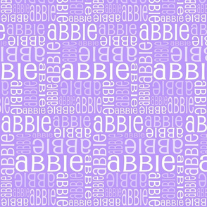 Personalised Name Fabric - Purple/Pink 5