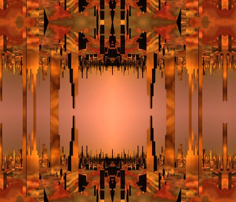 Copper City Sci Fi© Gingezel™ 2014 fabric by gingezel on Spoonflower - custom fabric