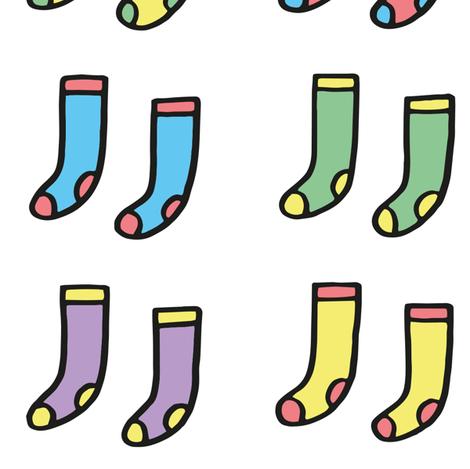 socks fabric by philippittam on Spoonflower - custom fabric