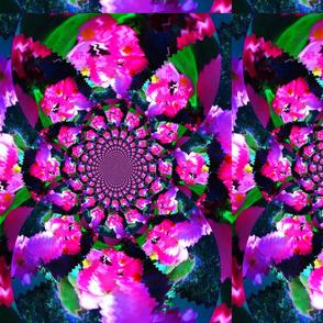 Neon Pink Kaleidoscope