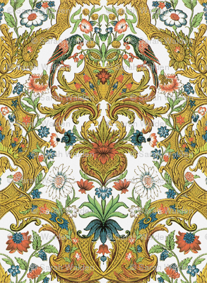 Parrot Damask ~ Bright & Bold
