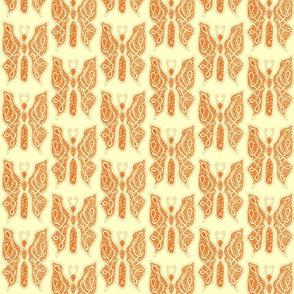 ButterflyDancer - med -deep orange & lemon chiffon