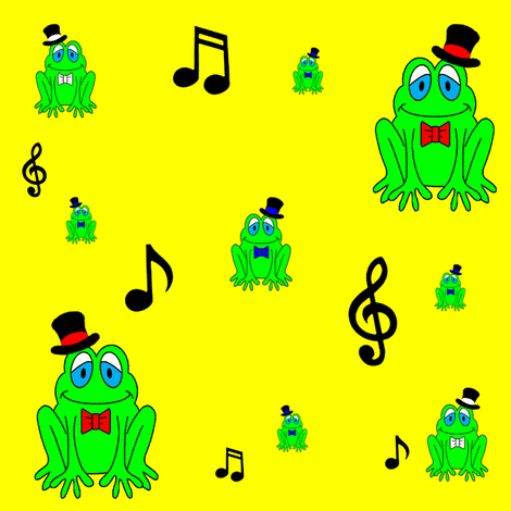 Frog___Top_Hat fabric by jeeky on Spoonflower - custom fabric