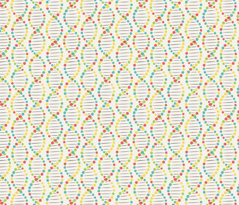 Color DNA stripe fabric by minimiel on Spoonflower - custom fabric