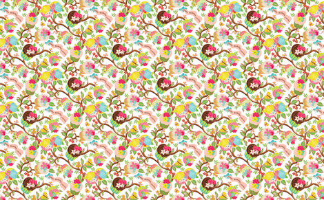 Cupcake_Vine_WLIN fabric by wendy_lin on Spoonflower - custom fabric