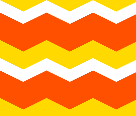 This Is Halloween! ~ Candy Corn Chevron fabric by peacoquettedesigns on Spoonflower - custom fabric