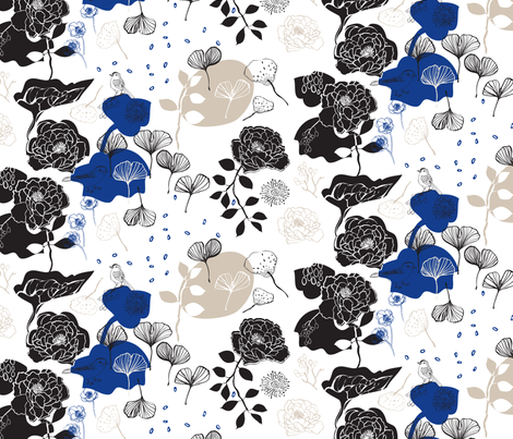 Chinoiserie Chic Blue fabric by els_vlieger on Spoonflower - custom fabric