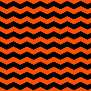 This Is Halloween ~ Black and Orange Chevron