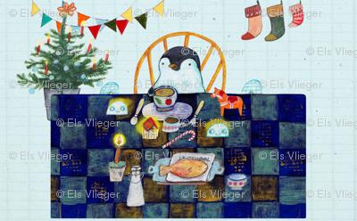 Penguins Christmas dinner