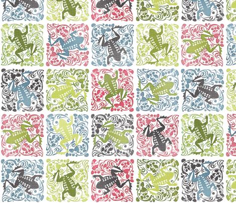 Dancing Frog fabric by spellstone on Spoonflower - custom fabric