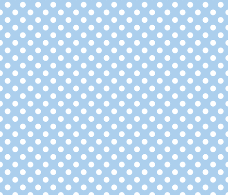 Cornflower Blue Polka Dot fabric - jessicabonilla ...