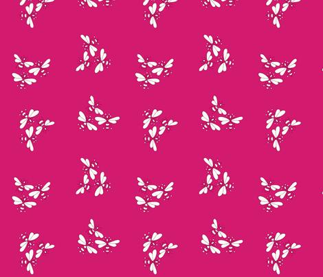 Flower Bees, Tayberry fabric by de-ann_black on Spoonflower - custom fabric