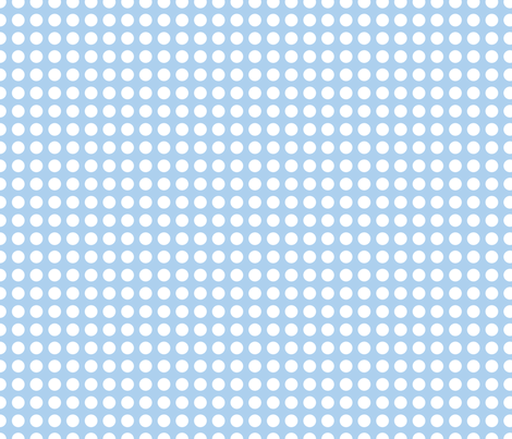 Cornflower Blue Dots in a Row fabric by jessicabonilla on Spoonflower - custom fabric