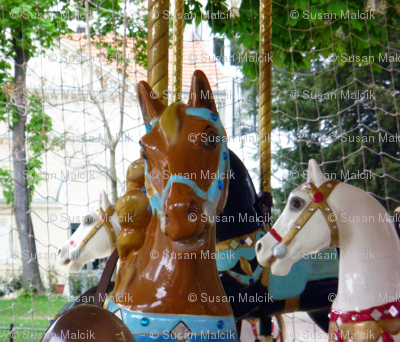 Brown Horse on Carousel