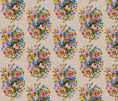 Carousel Flowers 2 fabric by susaninparis on Spoonflower - custom fabric