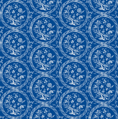 Heirloom Onion Blue fabric by amyvail on Spoonflower - custom fabric