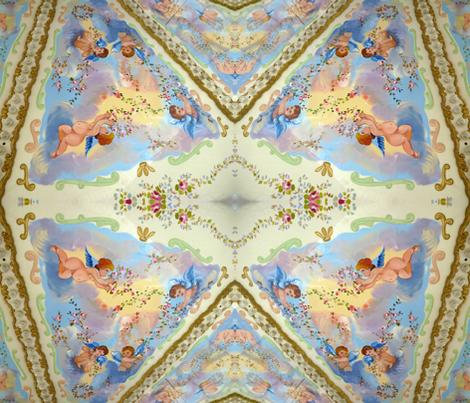 Cherubs on High fabric by susaninparis on Spoonflower - custom fabric