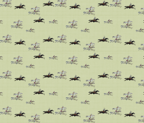 Racers on check fabric by ragan on Spoonflower - custom fabric