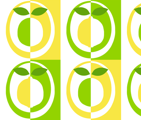 mod lemons and limes fabric by victorialasher on Spoonflower - custom fabric