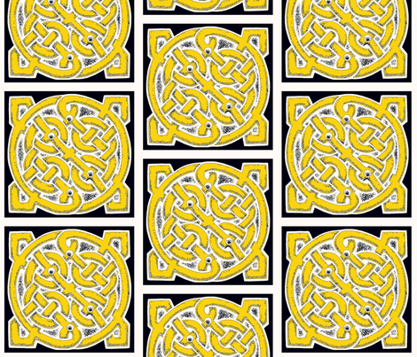 Celtic Knot dinner napkins fabric by whimzwhirled on Spoonflower - custom fabric