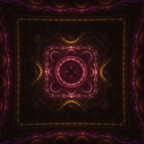 Square Fractal - Magenta and Orange