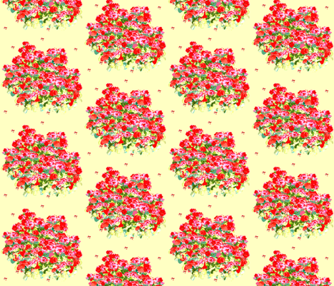 Fields of Geraniums fabric by karenharveycox on Spoonflower - custom fabric