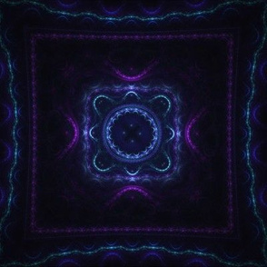 Square Fractal - Blue and Purple