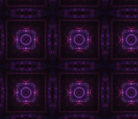 Square Fractal - Purple and Blue fabric by serendipitymuse on Spoonflower - custom fabric