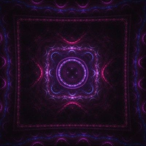 Square Fractal - Purple and Blue