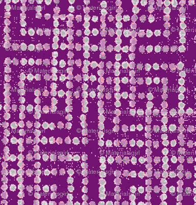 edo bead - purple, white