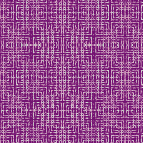 edo bead - purple, white fabric by materialsgirl on Spoonflower - custom fabric