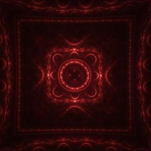 Square Fractal - Red