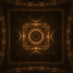 Square Fractal - Orange