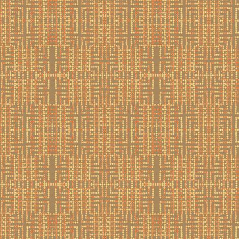 edo bead - taupe, salmon, yellow fabric by materialsgirl on Spoonflower - custom fabric