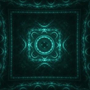 Square Fractal - Teal